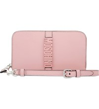 Moschino Logo Leather Wallet Pink
