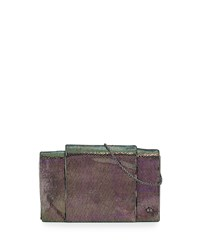 Halston Heritage Leather Wallet On A Chain Multi Metallic