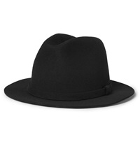 A.P.C. Wool Fedora Hat Black