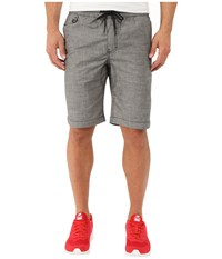 Publish Saar Stretch Chambray On Elastic Waistband Shorts Charcoal Men's Shorts Gray