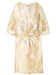 Gilda And Pearl 'Harlow' Kimono Gown Yellow Orange