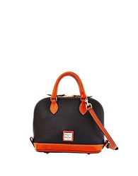 Dooney And Bourke Bitsy Leather Colorblock Bowler Bag Black