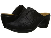 Naot Footwear Dream Black Lace Nubuck Women's Clog Mule Shoes