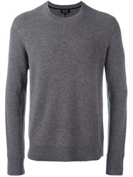 Rag And Bone Ribbed Crew Neck Jumper Grey