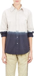 Nsf Hairline Stripe And Ombre Shirt Blue