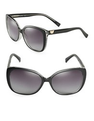 Calvin Klein 58Mm Square Sunglasses Black