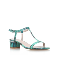 Carvela Suki Combination Low Heel Sandals Turquoise