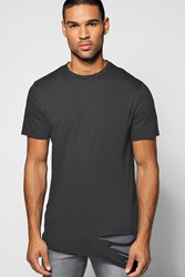 Boohoo Asymmetric Ripped T Shirt Black