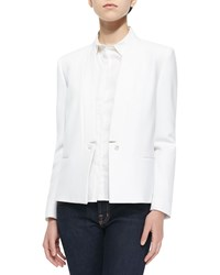 J Brand Ready To Wear Emily Long Sleeve Crepe Blazer White