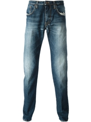 People Stone Washed Jeans Blue