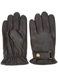 Polo Ralph Lauren Leather Gloves Brown