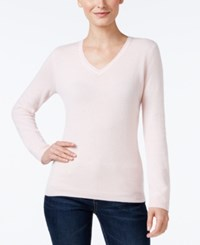 Charter Club Petite Cashmere V Neck Sweater Only At Macy's Cc Parasol