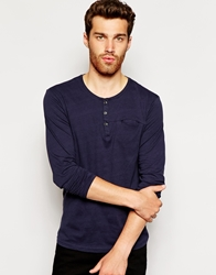 United Colors Of Benetton Long Sleeve Scoop Neck Henley Charcoal