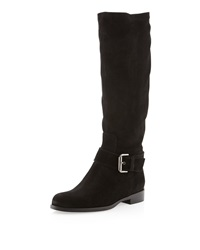 Sesto Meucci Dusty Suede Buckled Boot Black