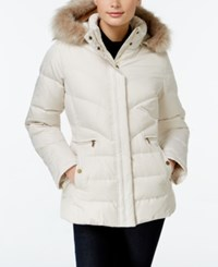 Larry Levine Faux Fur Hood Down Puffer Jacket