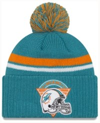 New Era Miami Dolphins Diamond Stacker Knit Hat Aqua