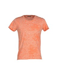 40Weft Topwear T Shirts Men Orange