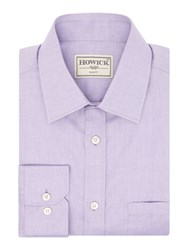 Howick Men's Tailored Charter Slim Fit Twill Shirt Lilac