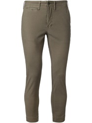 Fadeless Cropped Chino Trousers Green