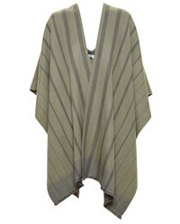 Bajra Wool Poncho Green Blue Olive Green Navy Blue