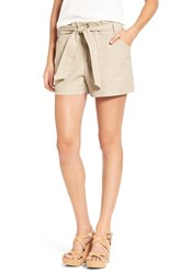 Mimi Chica Women's Tie Waist Shorts Oxford Tan