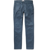 Nn.07 Marco Slim Fit Cotton Twill Chinos Blue
