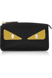 Fendi Monster Eyes Embellished Leather Trimmed Shell Cosmetics Case