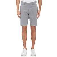 Theory Men's Micro Checked Shorts Light Grey