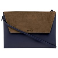 Whistles Albany Envelope Clutch Bag Navy
