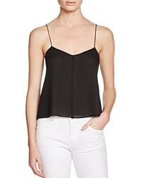 T By Alexander Wang Silk Camisole Top Black