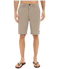 Billabong Crossfire X Mini Plaid Hybrid Shorts Khaki Men's Shorts