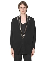 Givenchy Wool Cardigan With Chain Detail