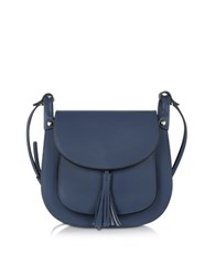Le Parmentier Navy Leather Crossbody Bag Navy Blue