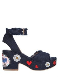 Laurence Dacade 95Mm Patches Denim Sandals