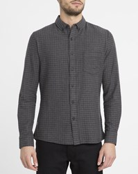 Revolution Grey 3552 Check Button Down Shirt