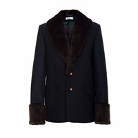 Jiri Kalfar Faux Fur Jacket Black Brown