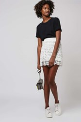 Topshop Guipure Lace A Line Skirt White
