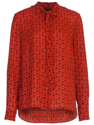 French Connection Mara Dot Shirt Red Sky