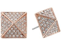 Vince Camuto Rose Gold Pave Pyramid Studs Rose Gold Earring