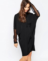Religion Instinct Shirt Dress Jet Black