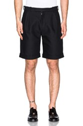 J.W.Anderson J.W. Anderson Double Pleat Straight Shorts In Black
