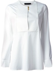 Calvin Klein Collection Bib Blouse White