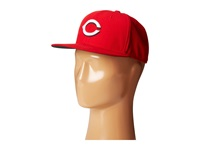 New Era Authentic Collection 59Fifty Cincinnati Reds Home Road Baseball Caps Navy