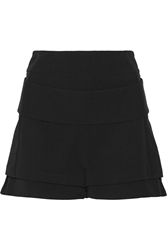 Givenchy Double Faced Shorts In Black Crepe