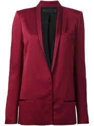 Haider Ackermann Shawl Lapel Blazer Red