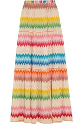 Missoni Crochet Knit Wrap Maxi Skirt