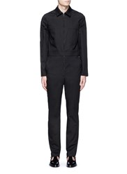 Givenchy Cotton Twill Jumpsuit Black