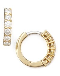 13Mm Yellow Gold Diamond Hoop Earrings 0.7Ct Roberto Coin Red
