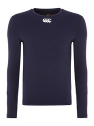 Canterbury Of New Zealand Men's Baselayer Cold Long Sleeve Top Navy