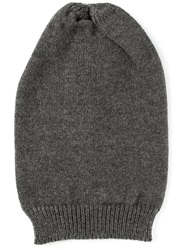 Dolce And Gabbana Slouchy Beanie Grey